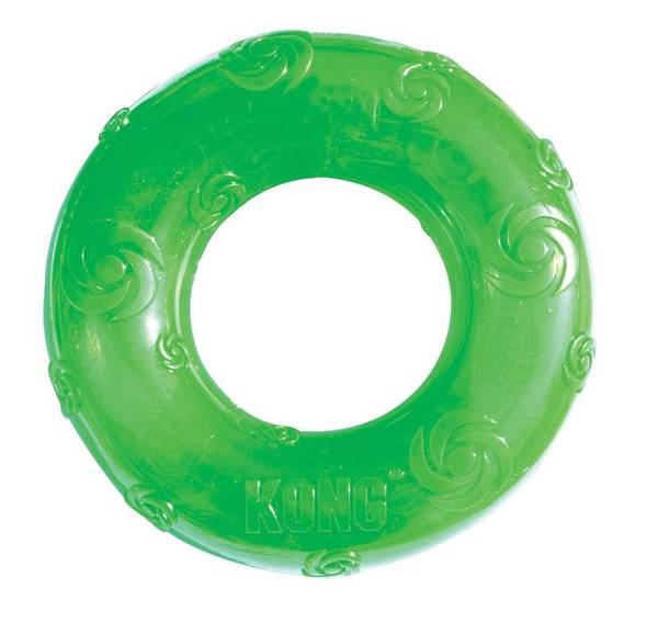 KONG Medium Squeezz Ring - rotaļlieta suņiem