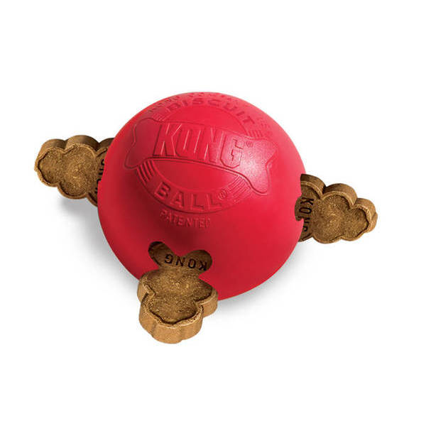 KONG BISCUIT BALL - Small - rotaļlieta gumijas bumba  maziem suņiem