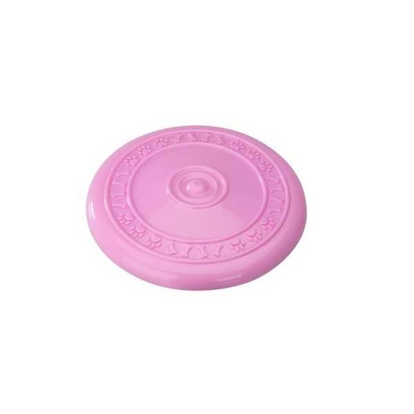 Gumijas rotaļlieta suņiem FRISBEE PINK 23cm ar zemeņu aromātu