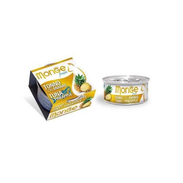 Monge Fruits Tuna & Pineapple 80 g - konservi kaķiem