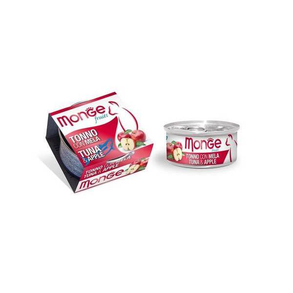Monge Fruits Tuna & Apple 80 g - konservi kaķiem