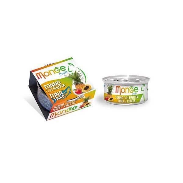 Monge Fruits Tuna & Fruits 80 g - konservi kaķiem