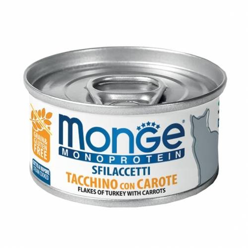 Monge Flakes Monoproteinic cat Turkey/Carrot 80gr - konservi kaķiem