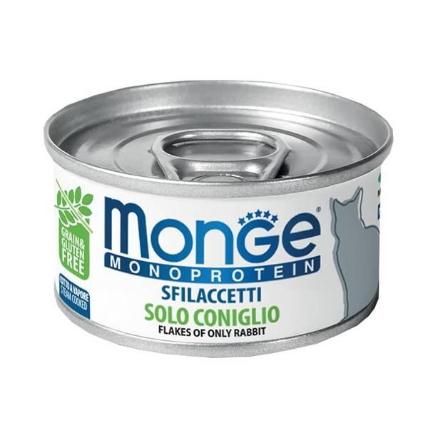 Monge Flakes Monoproteinic cat Rabbit 80gr - konservi kaķiem