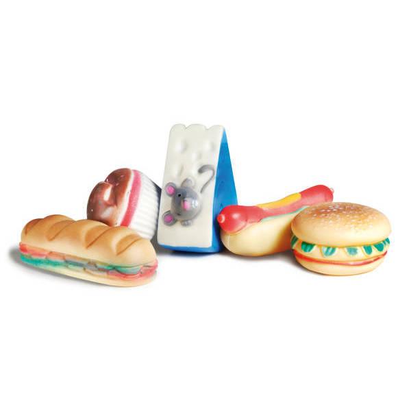 Gumijas rotaļlieta suņiem FOOD SHAPED 7cm.