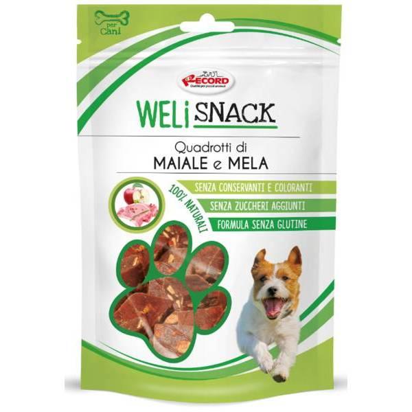 WELISNACK kārums ar cūkgaļu un ābolu 75g - papildbarība suņiem