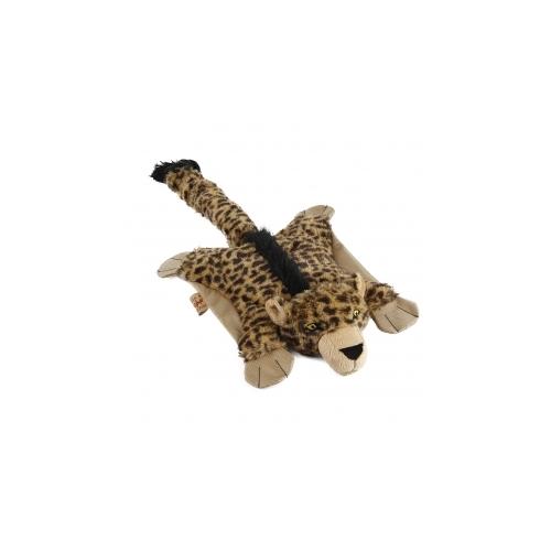Rotaļlieta suņiem Flatty Leopard 54x27cm ar pīkstuli