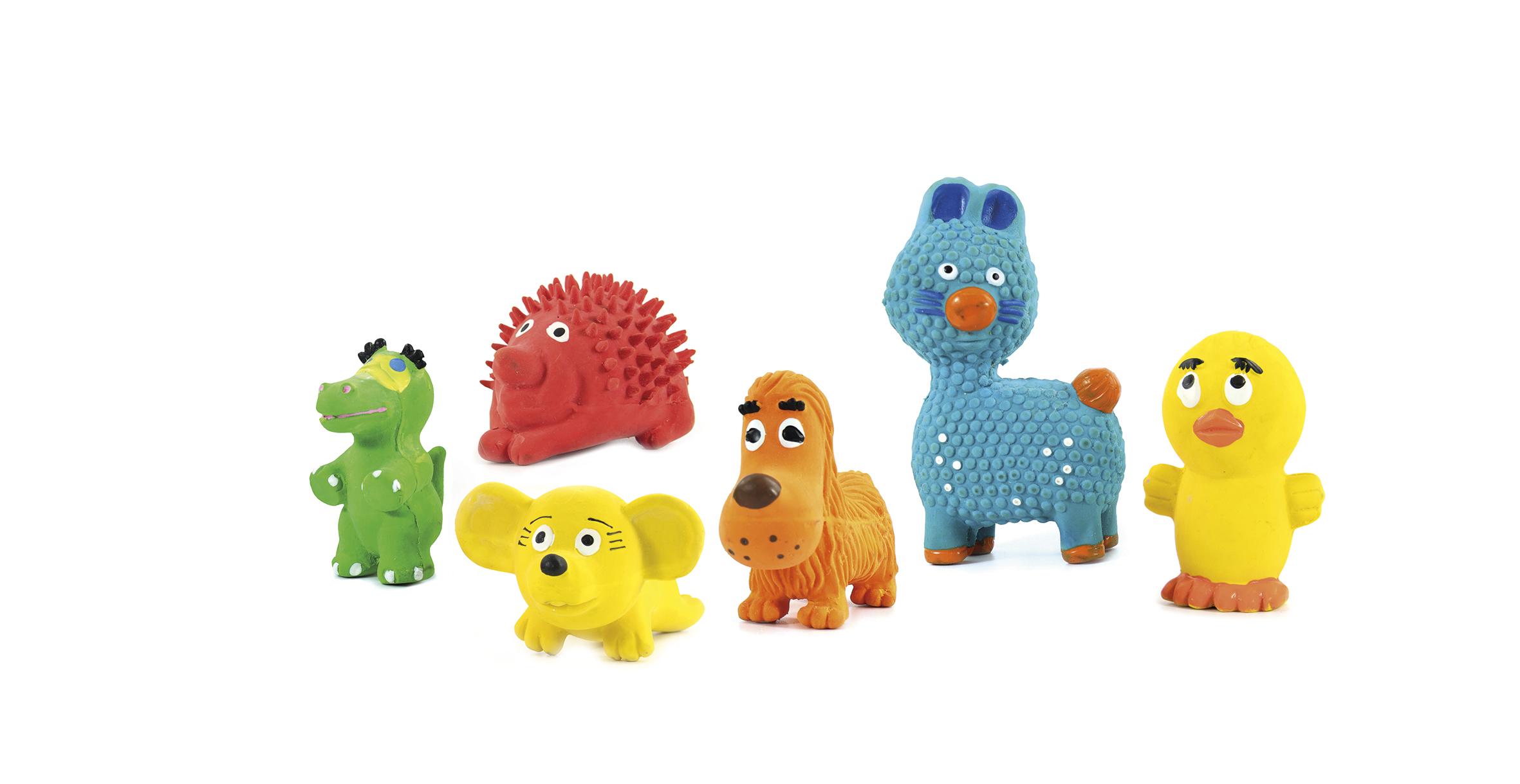 Rotaļlieta suņiem ar pīkstuli Tiny Toy 6-9cm