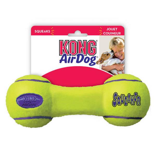 KONG AIR SQUEAKER DUMBBELL - Medium - rotaļlieta  hantele videjiem suņ
