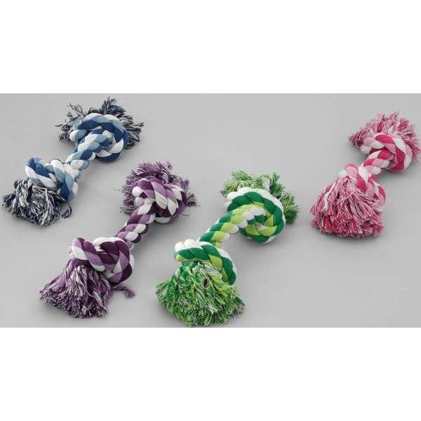 Kokvilnas rotaļlieta suņiem M  260mm/125g zaļa, sārta, zila, purpura